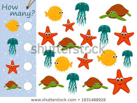 counting octopus characters educational game color book stock photo © izakowski