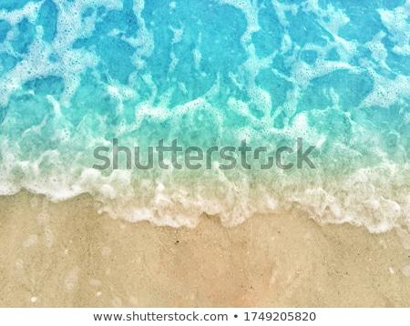 mavi · turkuaz · dalga · caribbean · deniz · su - stok fotoğraf © lunamarina