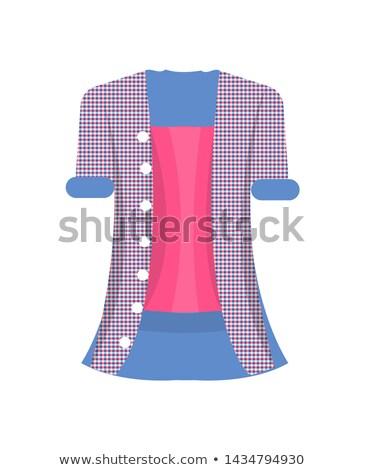 topo · modelo · moda · mulher · vestido · vermelho - foto stock © robuart