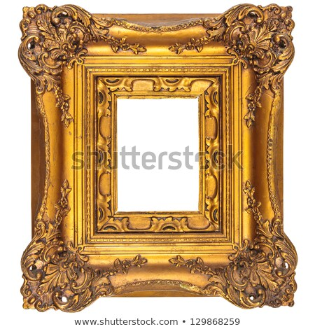 broad golden picture frame Stock photo © lienkie