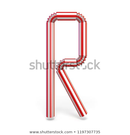 Drinking straw font Letter R 3D Stock photo © djmilic