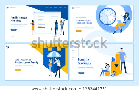 Family Financial Plan Web Set Vector Illustration Stock photo © robuart