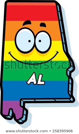 Cartoon Alabama matrimonio gay illustrazione sorridere Rainbow Foto d'archivio © cthoman