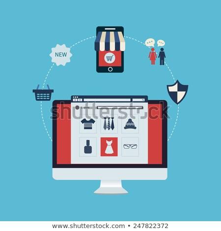 online shopping circle concept stock photo © anna_leni