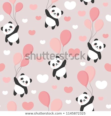 Cartoon panda ilustracja ponosi sukces Zdjęcia stock © cthoman