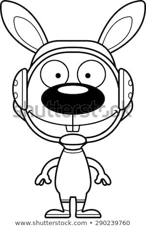 漫画 笑みを浮かべて レスラー バニー 幸せ ウサギ ストックフォト © cthoman