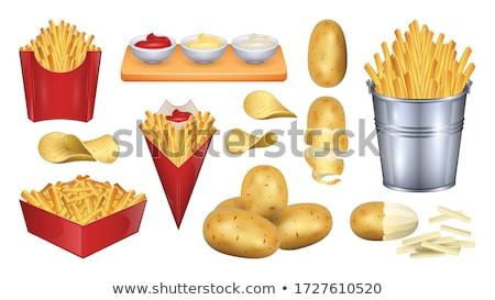 Zsák krumpli izolált rajz vektor ikon Stock fotó © robuart