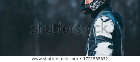 Motorfiets man zonnebril Stockfoto © cookelma