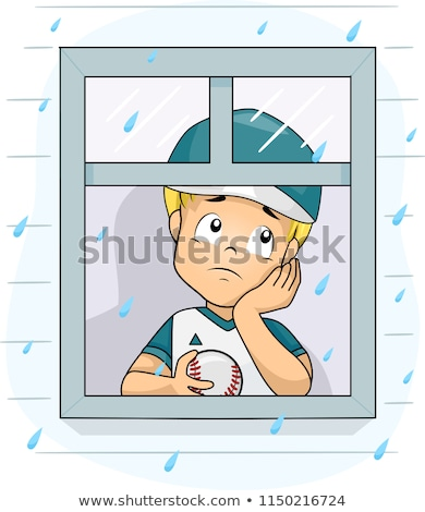 Sad Cartoon Baseball Player Stock photo © cthoman
