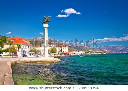 Kastel Stari landmarks and waterfront view stock photo © xbrchx