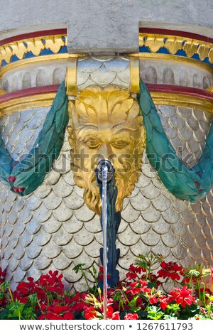 Closeup of decorative fountain in Bern, Switzerland Stock photo © boggy