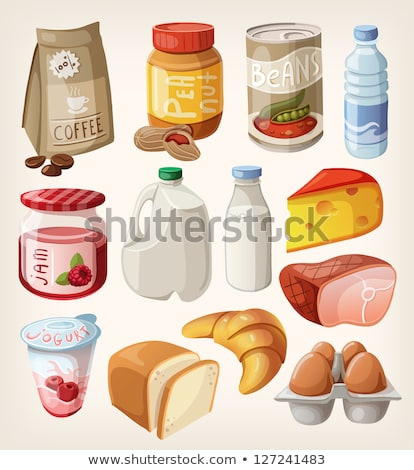 breakfast set with bread and jam stock photo © colematt