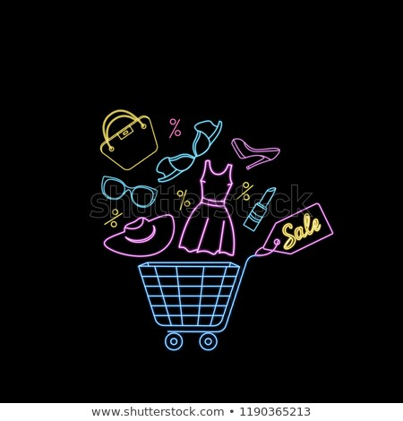 shopping females in clothes store posters vector stock photo © robuart