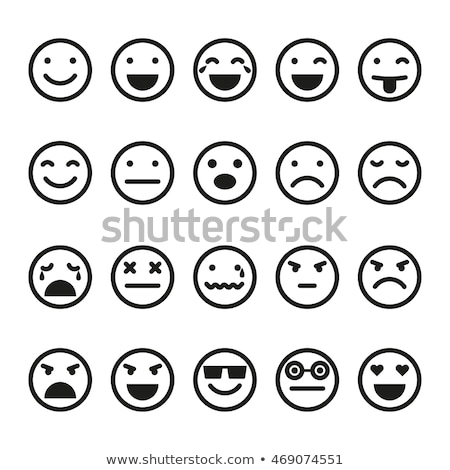 Emoji Facial Expression Icon Smiling Face Vector Stock photo © robuart