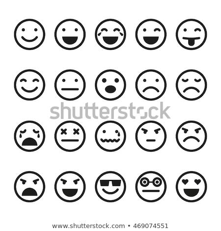 Emoji Facial Expression Icon Smiling Face Vector Stock photo © robuart