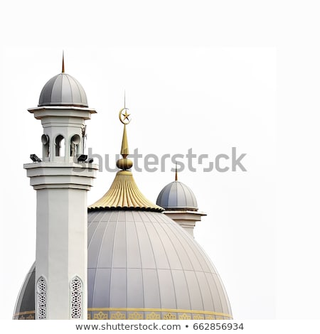 A beautiful mosque on white background Stock photo © colematt