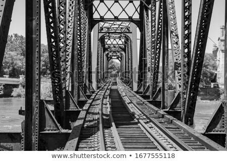 железной моста старые проход поездов металл Сток-фото © guillermo
