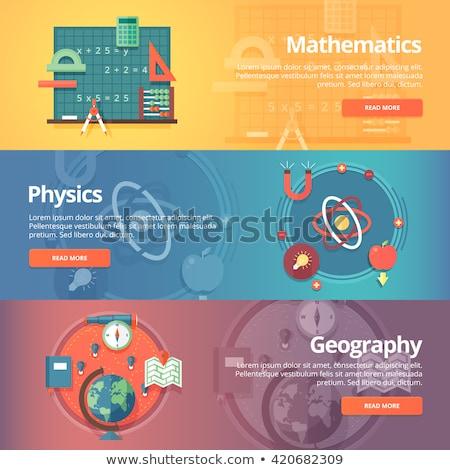 fundamenteel · web · icon · ingesteld · retro · kleur · vierkante - stockfoto © netkov1