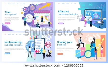 Scaling Business and Implementing Working Solution Stock photo © robuart