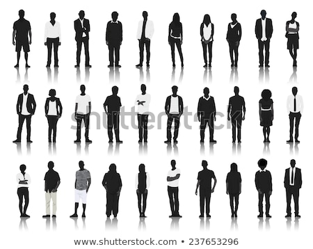 silhouettes of casual stock photo © lemony