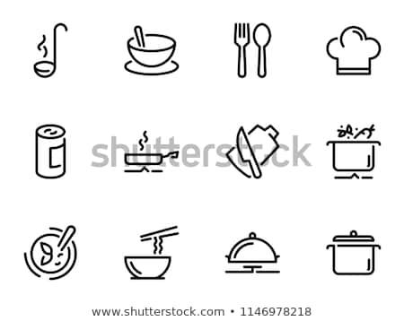 Sopa panela pote quente ícone isolado Foto stock © Andrei_