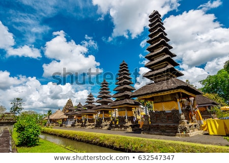 Foto stock: Traditional Balinese Hindu Temple Taman Ayun In Mengwi Bali Indonesia With Sunlight