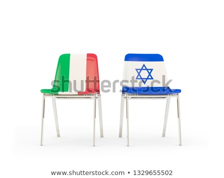 Two chairs with flags of Italy and israel Stock photo © MikhailMishchenko