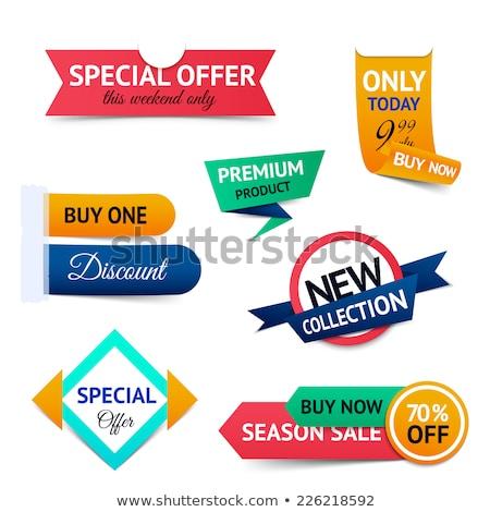En iyi fiyat indirim prim ürünleri ayarlamak afişler Stok fotoğraf © robuart