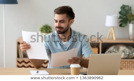 Happy investor man. Stock photo © Kurhan