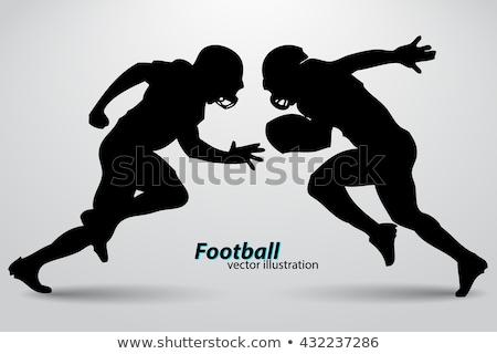 vektör · karikatür · siluet · futbol · spor - stok fotoğraf © angelp