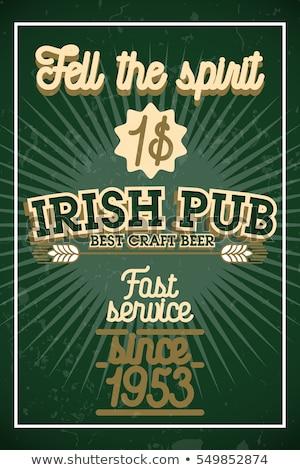Color vintage irish pub banner Foto stock © netkov1