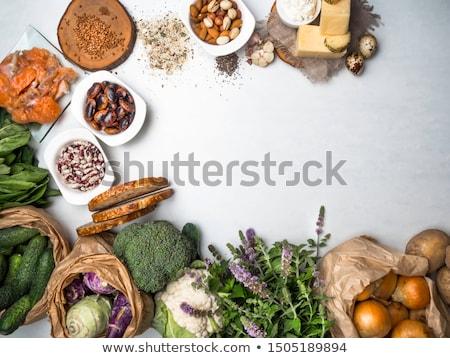 Stockfoto: Producten · rijke · zuren · eiwit · voedsel · sport