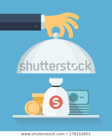 Stock photo: Dollar Supported by Hand, Savings Financial Assets