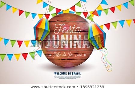 meghívó · poszter · terv · háttér · jókedv · ünneplés - stock fotó © articular
