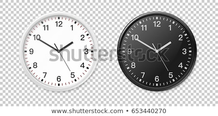 Foto stock: Vetor · isolado · transparente · relógio · ícone