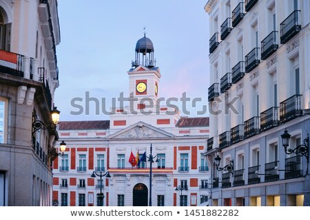 View of Puerta del Sol In Madrid at Sunset Stock photo © diego_cervo