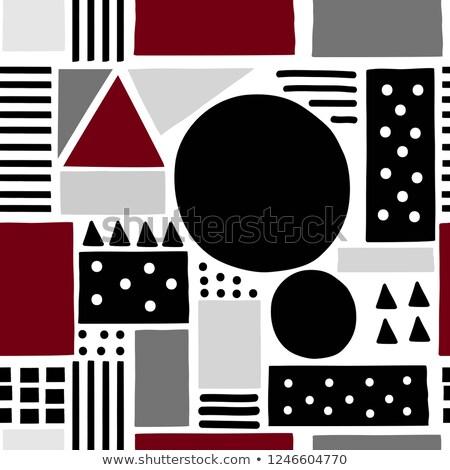 ベクトル シームレス 幾何学模様 単純な グラフィックデザイン 抽象的な ストックフォト © ExpressVectors