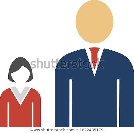 Man Boss With Subordinate Lady Icon Stock photo © angelp