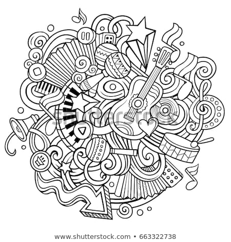 karikatür · karalamalar · müzikal · örnek · hat · sanat - stok fotoğraf © balabolka
