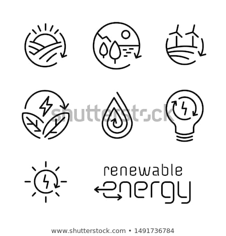 eco energy icon set Stock photo © bspsupanut