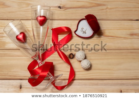 シャンパン · 眼鏡 · クリスマス · 装飾 · 孤立した · 白 - ストックフォト © karandaev