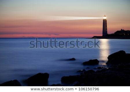 Hermosa faro puesta de sol sol paisaje luz Foto stock © Lopolo