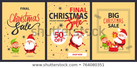 Christmas Sale, Clearance in Shop, Elf on Advert Stock photo © robuart