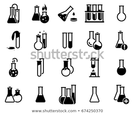 collection of  medical themed icons and warning-signs vector icon set  - 3 colors included stock photo © stoyanh
