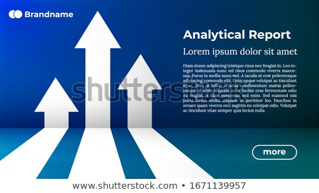 Way to Success - Web Template. Business Arrow Target Direction Concept to Success. Stock photo © tashatuvango