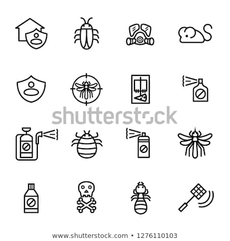 Mosquito Skull Icon Vector Outline Illustration Stock photo © pikepicture