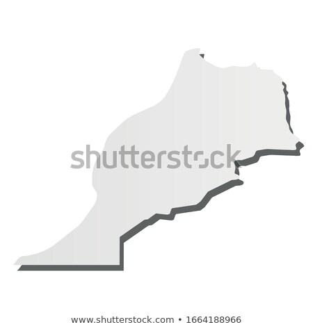 Marokko land kaart eenvoudige zwarte silhouet Stockfoto © evgeny89