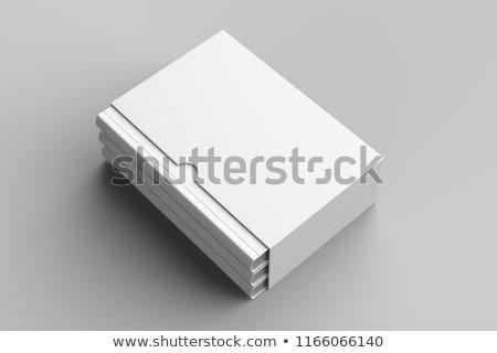 Boek dekken 3d illustration geïsoleerd witte Stockfoto © montego