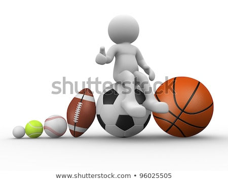 3d Man With Rugby Ball Stock fotó © CoraMax