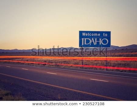 Idaho otoyol işareti yeşil ABD bulut sokak Stok fotoğraf © kbuntu
